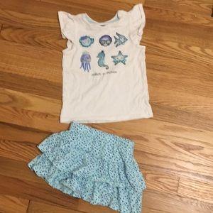 Gymboree Skirt and Top Set Sz 4